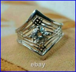 1.6Ct Round Diamond Spider Web Filigree Engagement & Wedding Ring 14K White Gold