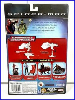 2002 Spider-Man Movie Green Goblin Super Poseable Action Figure Toy Biz NEW