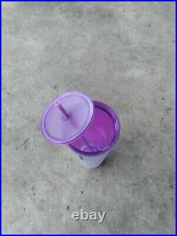 2021 Starbucks Halloween Purple Frosted Spider Web 24oz Tumbler withLid & Straw