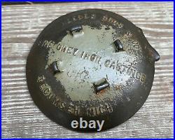 Antique Cast Iron Spider Web Tip Tray Opium Poppy HESSEN BROS CO Tecumseh MI