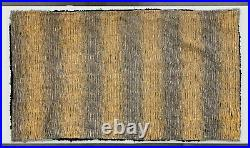 Antique Magnificent Early American Spider Web Design Hooked Rug Deco