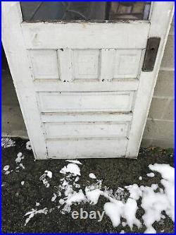 Bova 45 Antique Spiderweb Stained Glass Door 32.75 X 7 9.25 X 1 3/8 Haunted