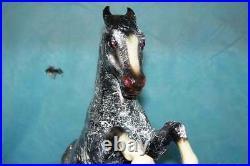 Breyer Custom Halloween Horse Spiderweb Weave with Red Eyes
