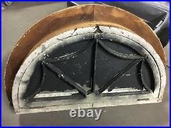 C1890 arched spider web design window frame & sash 39.5 x 20.5 h Frame 50 x 29