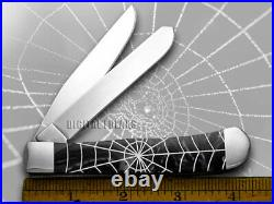 Case xx Trapper Knife Spider Web Black Pearl Corelon Stainless Pocket Knives