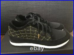 Charlotte Olympia Black Suede Work It Sneakers Size 37 US 7 With Box Spider Web