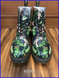 Dr Doc Martens 1460 Pascal Wild Botanics Women Size 10 Black Flowers Air Wair