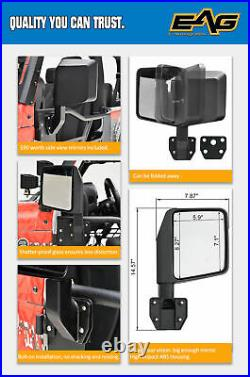 EAG Tube Spider Web Door with Sideview Mirror Fit for 07-18 Jeep JK Wrangler 4Dr