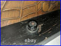 Fabulous Antique Pressed Metal Copper Artisan Hand Made Spider Web Flowers Lamp