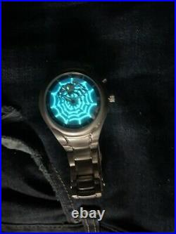 Fossil Stainless Steel Mens Big Tic Blue Faced Spider Web Watch JR-8652