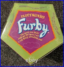 Furby Blue Turtle Spider Web 1999 Vintage Original Tiger Electronics Retro