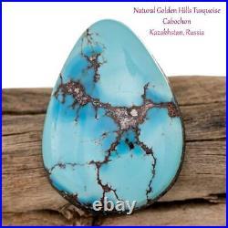 GOLDEN HILLS Turquoise Cabochon Cab RARE 20.6 ct Spiderweb NATURAL RING Bracelet