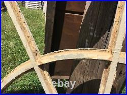 GORGEOUS c1870 arched spider web design window frame NO gLaSS 51 x 19 x 1.75