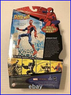 Hasbro SPECTACULAR SPIDER-MAN Animated Series Action Figure WALL HANGING WEB