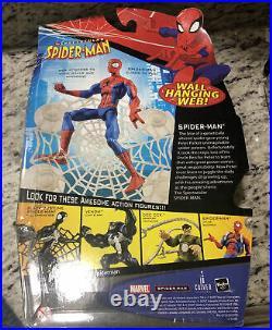 Hasbro SPECTACULAR SPIDER-MAN Animated Series Action Figure WALL HANGING WEB NIB