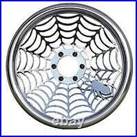 J Spider Web Custom Machined Billet Steering wheel Rough Polish