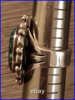 JULIAN LOVATO Santo Domingo Sterling Spiderweb Variscite Ring 15G Size 6.25 RARE