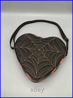 Love Pain And Stitches Orange Spider Web Crossbody Bag Pumpkin Kult Collection