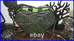 Love Pain & Stitches Heart Green & Blk Spiderweb Backpack Bag Pursenwhalloween