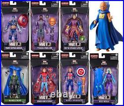 Marvel Legends Disney+ What If Set Of 7+1 Baf The Watcher 6action Figure Wave 2