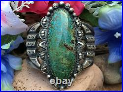 Massive 144 Gram Spiderweb Turquoise Sterling Navajo Old Pawn Cuff Bracelet