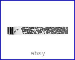 Montblanc Black Spider Web Tie Bar Clip Stainless Steel 114710 Brand New No Box