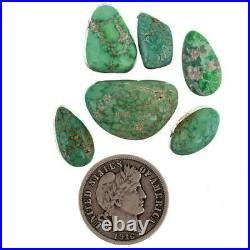 NATURAL Gem Carico Lake TURQUOISE Cabochon Cab Lot Spiderweb 4 Ring 27cts