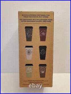 NEW Starbucks 2019 Halloween Tumbler & Hot Cup Lot Rare Matte Plum/Red Spiderweb