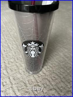 NEW Starbucks Halloween 2019 Glitter Silver Spider Web Tumbler Limited Edition