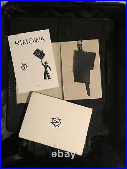 NWT Supreme RIMOWA Cabin Plus Black Suitcase Luggage Bag 49L Spider Web FW19