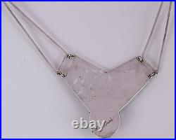 Native american Navajo Sterling & spider web Turquoise necklace Roger A. Lewis
