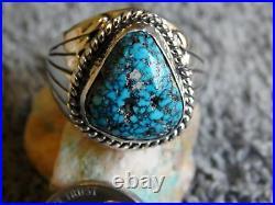 New Mens Black Spiderweb Turquoise Sterling Ring Navajo Lorenzo James Size 14
