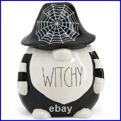 New Rae Dunn Witchy Spiderweb Gnome Cookie Jar Canister Halloween Online Release