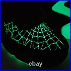 Nike Air Max 90 Halloween Spiderweb Athletic Shoes Mens Size 7 Womens 8.5 Black