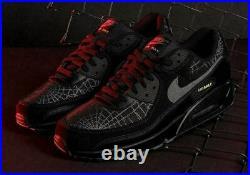 Nike Air Max 90 Shoes Halloween Black Smoke Grey Lime DC3892-001 Men's NEW