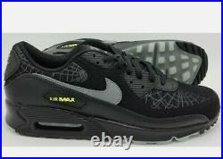 Nike Air Max 90 Spider Web Halloween Pk Trainers DC3892-001 Black mens size 11