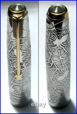 Parker 51 Customized Spiderweb Fountain Pen Cap in Silver 925 (CM)