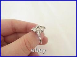 Platinum 1.1/4ct diamond cluster ring, large art deco design spiderweb