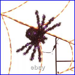 Pre-Lit 90 Twinkling Spider Web For indoor or outdoor use
