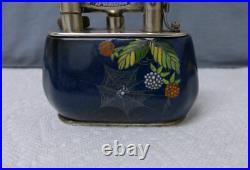Rare Dunhill Ceramic Carlton Ware Table Lighter Spider Web