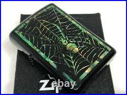 Rare! ZIPPO 2003 Limited Edition Shell-Inlay Spider Web Lighter Black