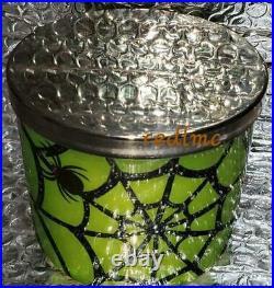 SPICED CIDER Spider Web Halloween Slatkin Bath Body Works 14.5 Ounce Candle New
