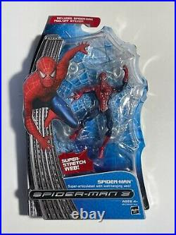 SPIDER-MAN 3 Super-Articulated with Wall-Hanging Web HASBRO Very Rare
