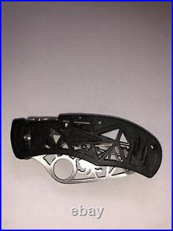 SPYDERCO C35 Q KNIFE WITH SPIDER WEB CUT OUT IN BLADE. Ultra Rare