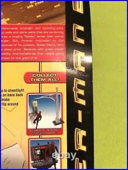 Spider-Man 2 Movie Aerial Flipping Streetlight Tobey Maguire Toy Biz Articulated