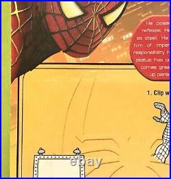 Spider-Man 2 Movie Super Posable Billboard Tobey Maguire Toy Biz Articulated