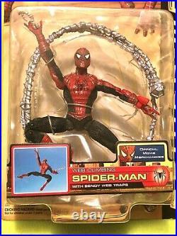 Spider-Man 2 Movie Web Climbing Peter Parker Tobey Maguire Toy Biz Articulated