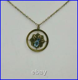 Spider Web Necklace Victorian Edwardian 9K Gold Antique Insect Animal Jewelry