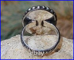 Spiderweb Turquoise Ring Star Fox Old Pawn Vintage Style Silver. 925 Size 7
