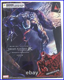 Square Enix Play Arts Kai Venom, (Carnage) Variant Brand New Factory Sealed MIB